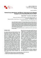 prikaz prve stranice dokumenta Particle-Energy Distribution and Effective Temperature for the Hopping Transport in One-dimensional Disordered System