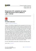 prikaz prve stranice dokumenta Measurement of D+s production and nuclear modification factor in Pb-Pb collisions at √sNN=2.76 TeV