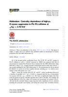 prikaz prve stranice dokumenta Addendum to: Centrality dependence of high-pT D- meson suppression in Pb-Pb collisions at √sNN=2.76 TeV