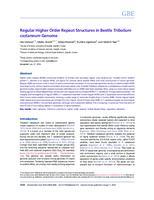 prikaz prve stranice dokumenta Regular higher order repeat structures in beetle Tribolium castaneum genome