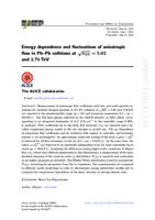 prikaz prve stranice dokumenta Energy dependence and fluctuations of anisotropic flow in Pb-Pb collisions at √sNN=5.02 and 2.76 TeV