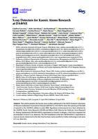 prikaz prve stranice dokumenta X-ray Detectors for Kaonic Atoms Research at DAΦNE