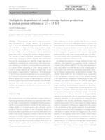 prikaz prve stranice dokumenta Multiplicity dependence of (multi-)strange hadron production in proton-proton collisions at √s = 13 TeV