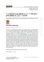 prikaz prve stranice dokumenta Λ+c production in pp collisions at √s=7 TeV and in p-Pb collisions at √sNN=5.02 TeV
