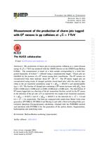 prikaz prve stranice dokumenta Measurement of the production of charm jets tagged with D0 mesons in pp collisions at √s=7 TeV